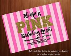 Pink Party Invitations Birthday Party Invitation Pink Secretvictoria Pink