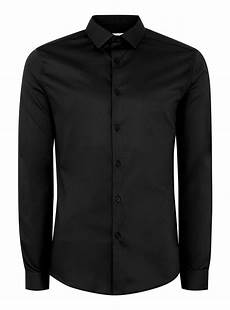 black sleeve shirt black satin fit sleeve shirt s shirts