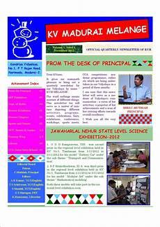 Newsletter Examples For Schools Kvm Melange School Newsletter Learning Resource Centre