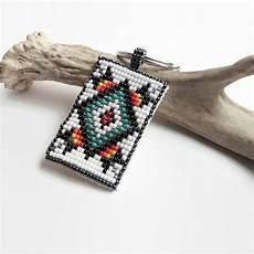 american style beaded keychain seed bead keychain