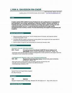 Sample Resumes For Nursing Nurse Resume Easyjob
