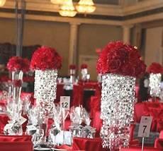 red reception wedding flowers wedding decor red wedding
