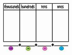 Place Value Chart With Disks Place Value Disk Charts By Typically Ms Tunes Tpt