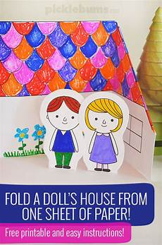 Paper Foldable Templates Make A Paper Doll S House Free Printable Picklebums