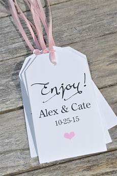 Wedding Favor Tags Baby Shower Favor Tags Enjoy Wedding Thank You Tags