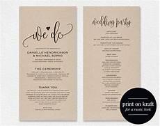 Wedding Program Designs Wedding Program Template Wedding Program Printable We Do