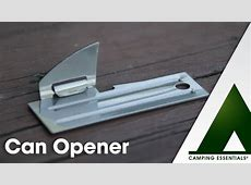 Camping Essentials: Can Opener   YouTube