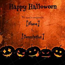 Word Halloween Templates Halloween Award Certificates 5 Printables For Microsoft