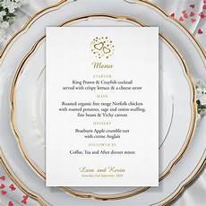 Wedding Menu Cards Hearts Menu Card Kays Weddings