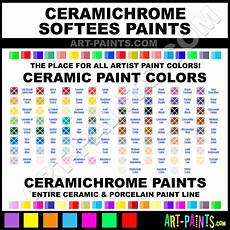 Ceramic Paint Color Chart Ceramichrome Softees Ceramic Porcelain Paint Colors