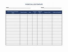 Sales Call List Template 40 Printable Call Log Templates In Microsoft Word And Excel