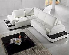 2pc modern white leather sectional sofa set 44lt71