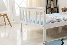 solid wood single bed frame in white home treats uk