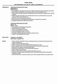 Home Health Care Resume Certified Home Health Aide Resume Samples Velvet Jobs