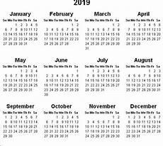 2020 Mini Calendar Printable 2019 Calendar Amazonaws