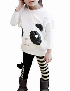 us 2pcs infant toddler panda coat striped