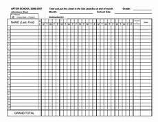 Student Attendance Template Printable Classroom Attendance Sheets Class Attendance Sheets