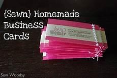 Home Made Buisness Cards Sewn Homemade Business Card Tutorial Though I Guess I