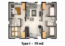 70m2 претрага floor plans house