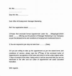 Employment Cover Letter Example Free 7 Sample Employment Cover Letter Templates In Pdf