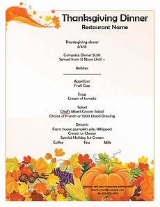 thanksgiving cards word template thanksgiving menu template word templates