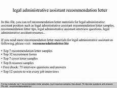 Letter Of Recommendation Administrative Assistant Administrative Assistant Recommendation Letter
