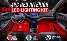 Car Interior Led Lights Red Amazon Com Ledglow 4pc Red Led Interior Footwell