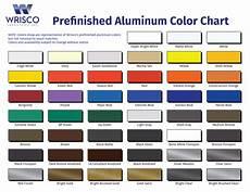 Wrisco Aluminum Color Chart Color Chart Wrisco Industries Inc