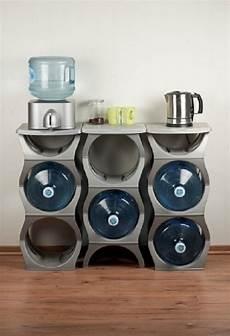 u water bottle rack storage solution for 3 5 gallon