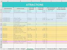 Travel Plan Excel How I Use Excel To Organize All My Travel Plans Research