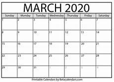 March 2020 Calendar Printable Blank March 2020 Calendar Printable Beta Calendars