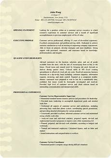 Resume For Customer Service Executive Professional Customer Service Executive Resume Examples