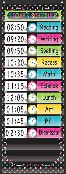 Pocket Chart Design Chalkboard Brights14 Pocket Daily Schedule Pocket Chart
