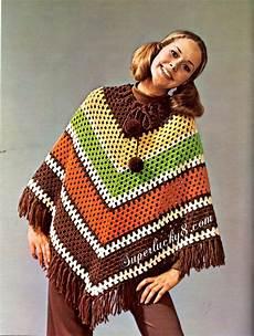 crochet poncho vintage poncho pdf crochet pattern digital crochet