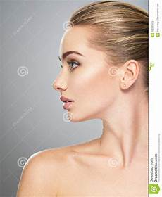 Model Profile Photo Profile Face Of Young Woman Skin Care Treatment Stock
