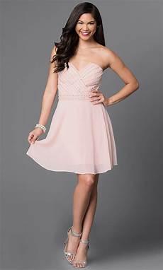 light pink beaded bodice homecoming dress promgirl