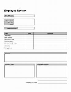 Employee Review Form Free 10 Employee Self Reviews Forms In Pdf Word