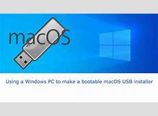 Make macOS USB installer disk on Windows [Catalina & High