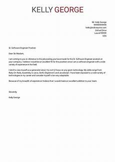 Employment Cover Letter Example Cover Letter Examples By Real People Senior Software