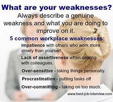 What Is Your Biggest Weakness Interview Question Free Interview Answers What Are Your Strengths And