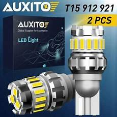 Auxito Reverse Lights Auxito Pair Led Reverse Backup Light 921 912 W16w T15
