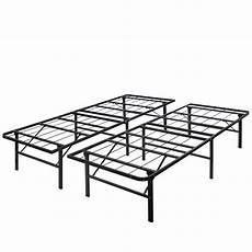 modern king size bi fold folding platform metal bed frame