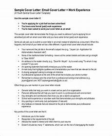 Cover Letter Sample Email Free 9 Sample Cover Letter Templates In Pdf Ms Word