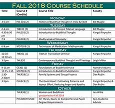 College Scheduler Fall 2018 Course Schedule Maitripa College