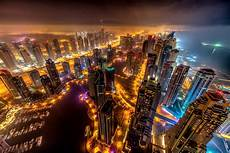 Dubai Night Lights Dubai Buildings Night Lights Top View 8k Hd World 4k