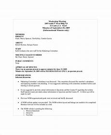 Marketing Meeting Agenda Marketing Meeting Agenda Template 8 Free Word Pdf