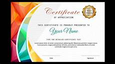 Powerpoint Certificate Of Appreciation How To Make A Certificate In Powerpoint Professional