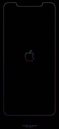 iphone xs outline wallpaper rainbow border apple logo iphone wallpapers imgur links
