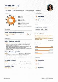Digital Media Resume Digital Marketing Resume Example And Guide For 2020