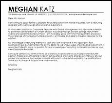 Recruiter Cover Letter Sample Corporate Recruiter Cover Letter Sample Cover Letter